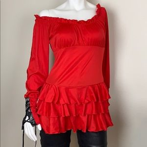 Red sexy pirate dress size Large